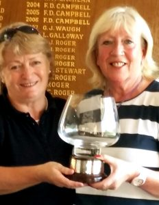 Elaine Thom (Port Bannatyne GC) teamed up with Anna McComb (Bute GC) to play in the Clober Golf Club Ladies Open Greensome competition in Milngavie