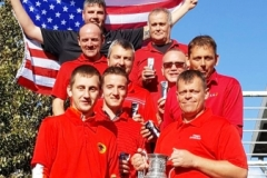 The victorious team USA, led by Graham Fisher